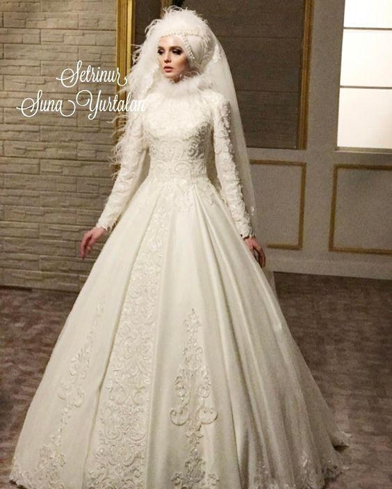 بالصور ازياء العروس , اروع فستان زفاف بالكمام 599 7