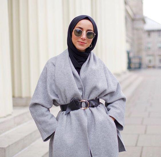 صورة ملابس كاجوال للمحجبات , ازياء واسعة في خروجات الشتاء
