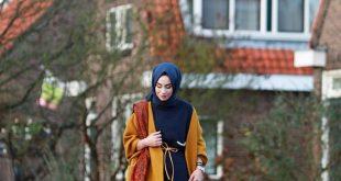 ملابس كاجوال للمحجبات , ازياء واسعة في خروجات الشتاء