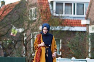 صور ملابس كاجوال للمحجبات , ازياء واسعة في خروجات الشتاء