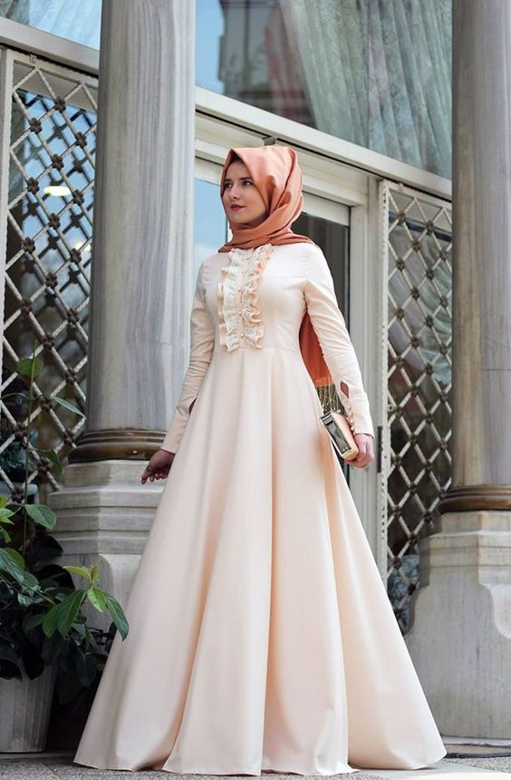صورة ملابس طويلة للمحجبات , جلبابات و فساتين تركية