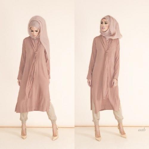 صورة الازياء اللبنانية , لبس محجبات على موضة