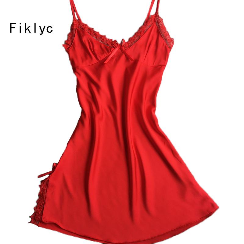 بالصور ملابس نوم مثيرة للمتزوجات , اجدد مجموعة قمصان حمراء نوم للنساء 672 3