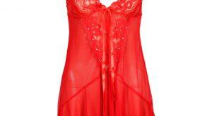 بالصور ملابس نوم مثيرة للمتزوجات , اجدد مجموعة قمصان حمراء نوم للنساء 672 9 310x165