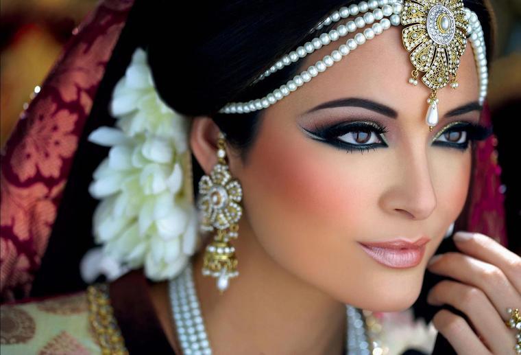 صورة مكياج هندي ناعم مكياج هندي للعروس , ميك اب عرائس جديد