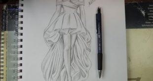 صوره رسومات ازياء بالرصاص , تصاميم ملابس البنات