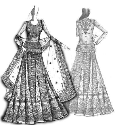 بالصور رسومات ازياء بالرصاص , تصاميم ملابس البنات 700 2