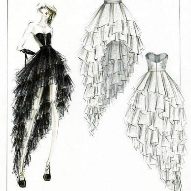 بالصور رسومات ازياء بالرصاص , تصاميم ملابس البنات 700 3