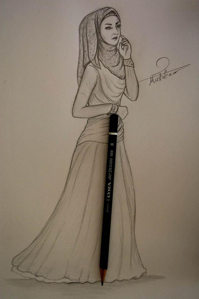 بالصور رسومات ازياء بالرصاص , تصاميم ملابس البنات 700 4
