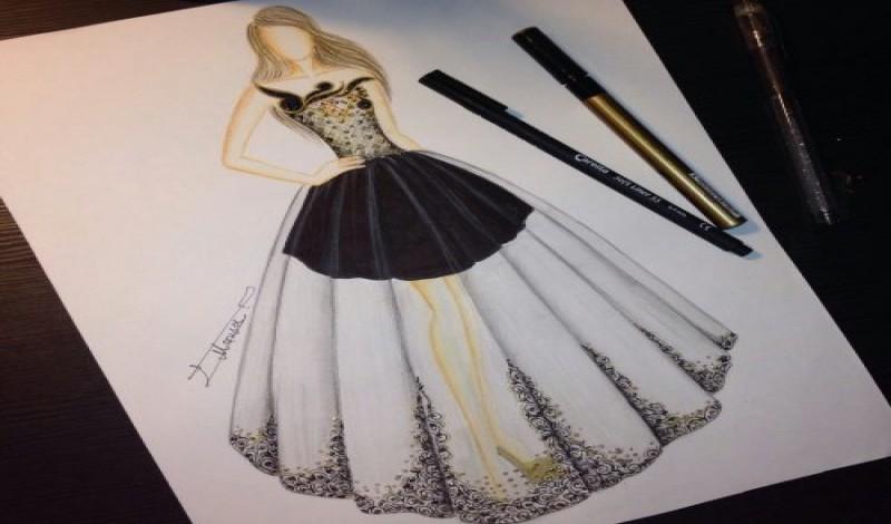 بالصور رسومات ازياء بالرصاص , تصاميم ملابس البنات 700 5