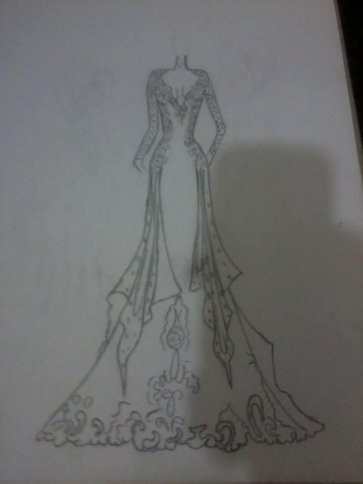 بالصور رسومات ازياء بالرصاص , تصاميم ملابس البنات 700 7