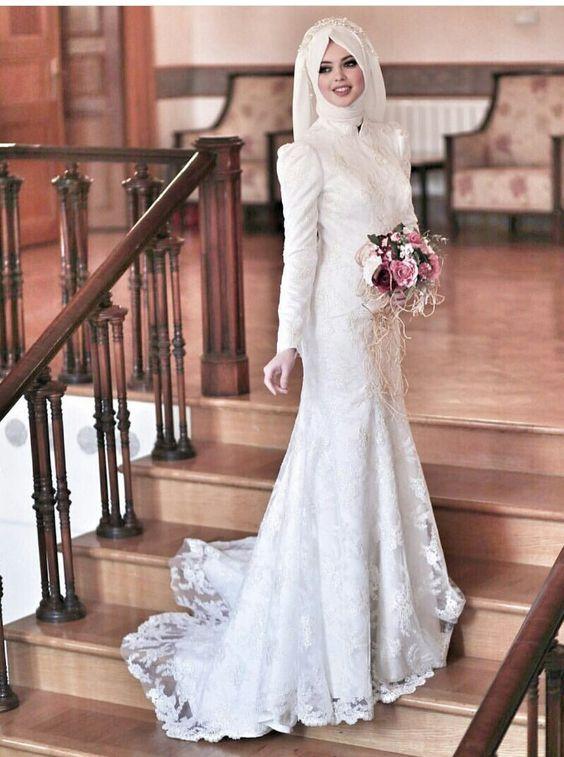بالصور ازياء عرايس , فساتين فتيات محجبات في حفل الزفاف 701 2