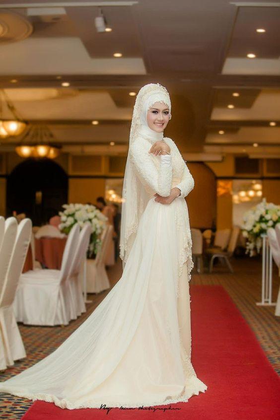 بالصور ازياء عرايس , فساتين فتيات محجبات في حفل الزفاف 701 3