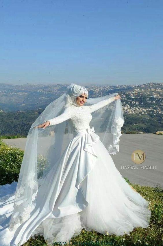 بالصور ازياء عرايس , فساتين فتيات محجبات في حفل الزفاف 701 4