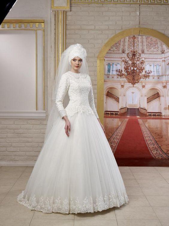 بالصور ازياء عرايس , فساتين فتيات محجبات في حفل الزفاف 701 5
