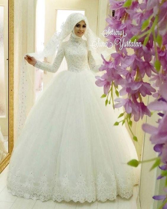 بالصور ازياء عرايس , فساتين فتيات محجبات في حفل الزفاف 701 6