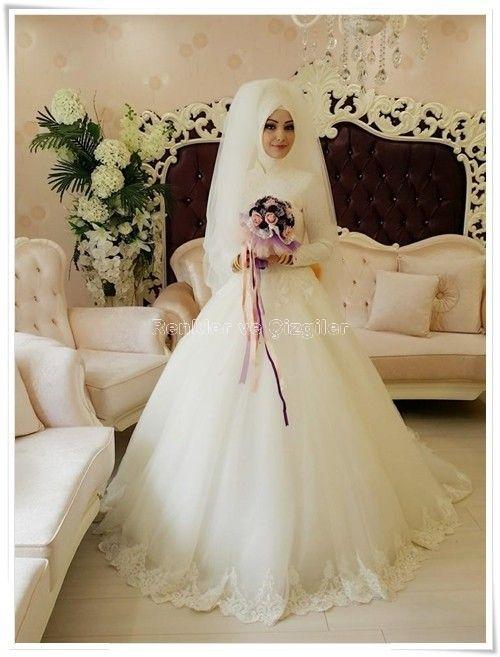 بالصور ازياء عرايس , فساتين فتيات محجبات في حفل الزفاف 701 7