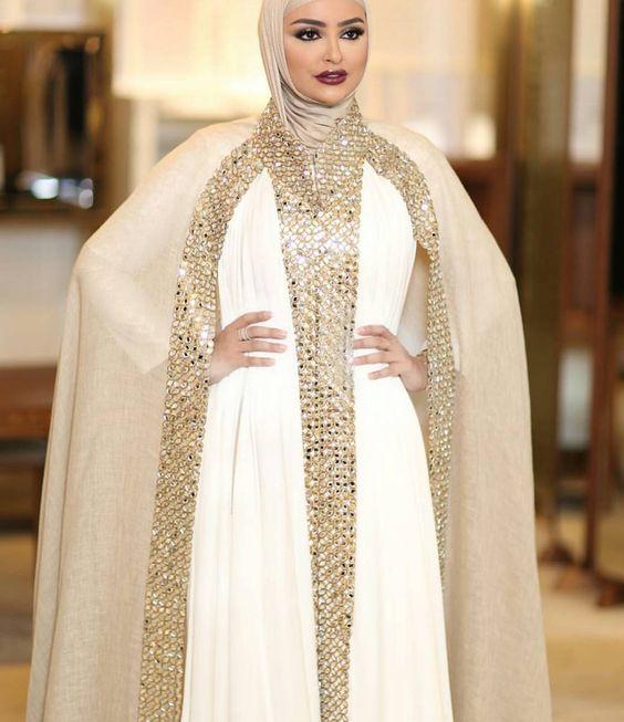 صورة صور ملابس محجبات , ازياء بالوشاح للعرائس
