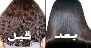 بالصور خلطة لتنعيم الشعر في ساعتين , شعر ناعم وصحي في غمضة عين 7140 2 310x165