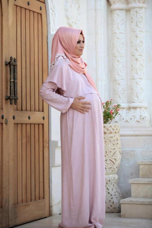 بالصور ملابس حوامل للمحجبات , ازياء فضفضة جميلة 718 8