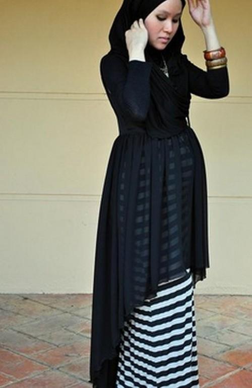 بالصور ملابس حوامل للمحجبات , ازياء فضفضة جميلة 718 9