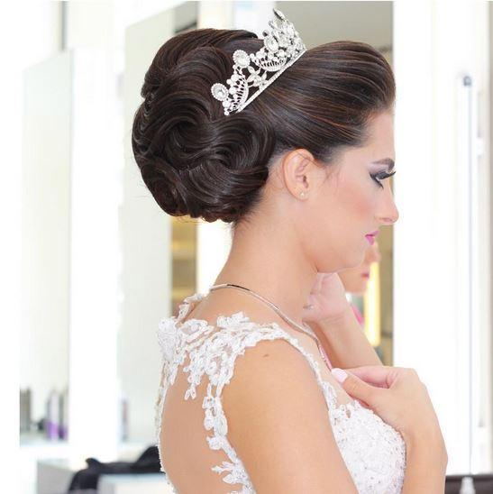 صورة موديلات شعر عروس , احلى تسريحه للعرايس