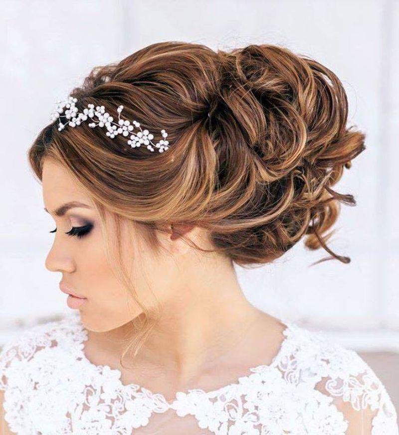صورة اجمل تسريحة شعر للعروس , اروع تسريحه للشعر