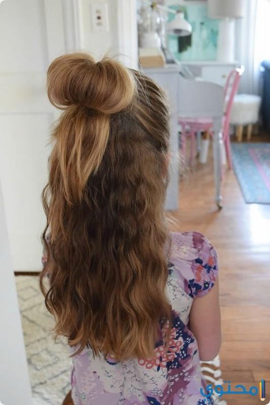 صورة تسريحات شعر بنات 2019 , تسريحه على الموضه