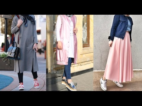 بالصور ملابس للجامعة للبنات المحجبات , ملابس كاجوال شيك 757 8