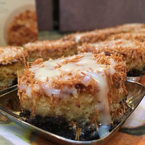 صورة بسبوسة الاوريو والشعيريه , ابتكارات حلويات شرقية