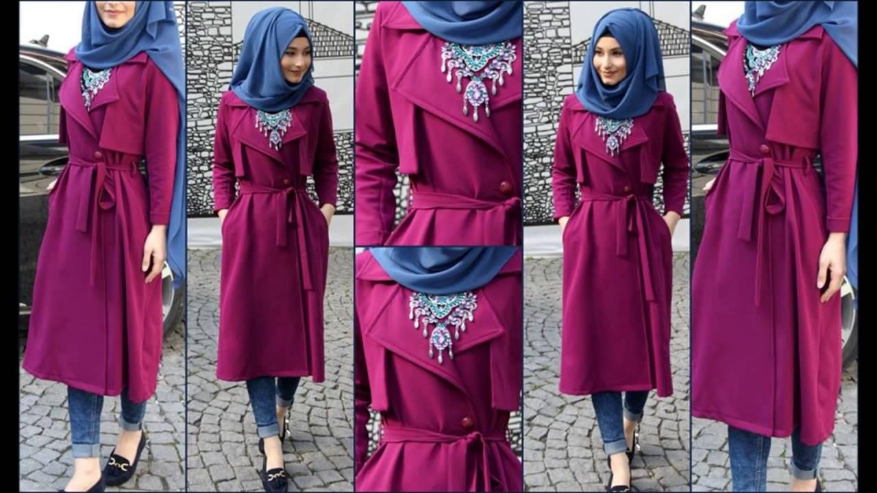 ملابس فتيات محجبات كاجوال , كولكشين شيك مناسب للجامعة  بنوتات كيوت