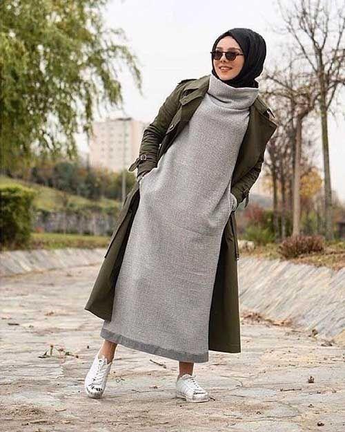 بالصور ملابس شتوية للمحجبات , اناقة اختيار الازياء 796 2