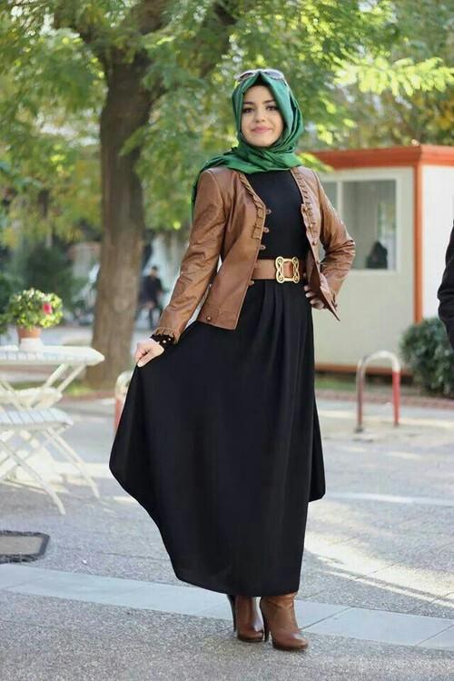 بالصور ملابس شتوية للمحجبات , اناقة اختيار الازياء 796 3