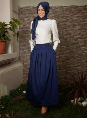 صورة احدث ازياء المحجبات , اطلالات مختلفة لملابس المحجبات