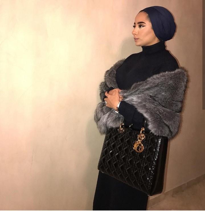 صورة ازياء حجاب , اجمل معاطف بالفرو