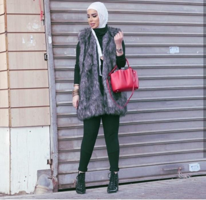 بالصور ازياء حجاب , اجمل معاطف بالفرو 802 8