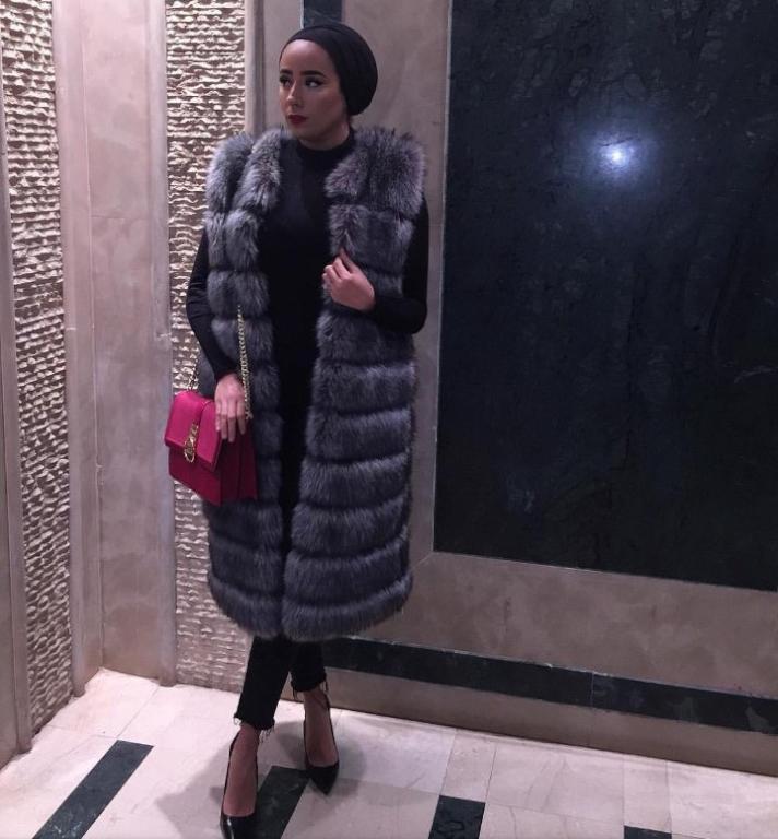 بالصور ازياء حجاب , اجمل معاطف بالفرو 802 9