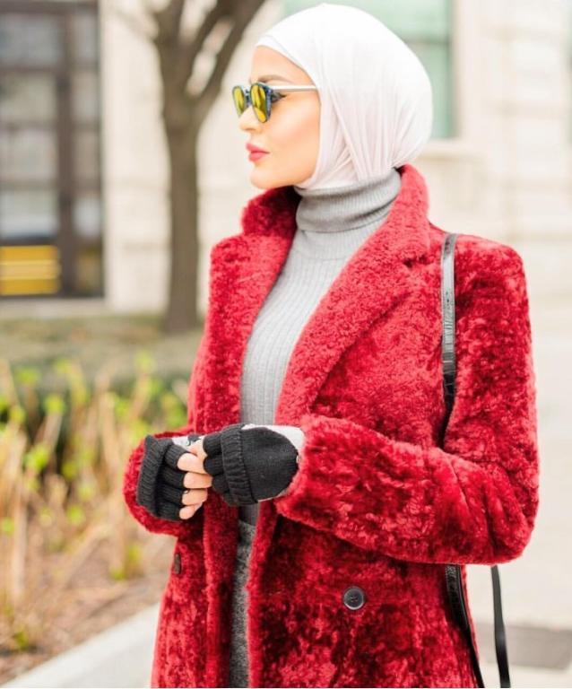 بالصور ازياء حجاب , اجمل معاطف بالفرو 802