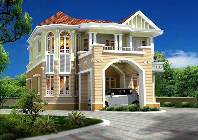 صورة صور تصاميم منازل , واجهات بيوت مساحات كبيرة