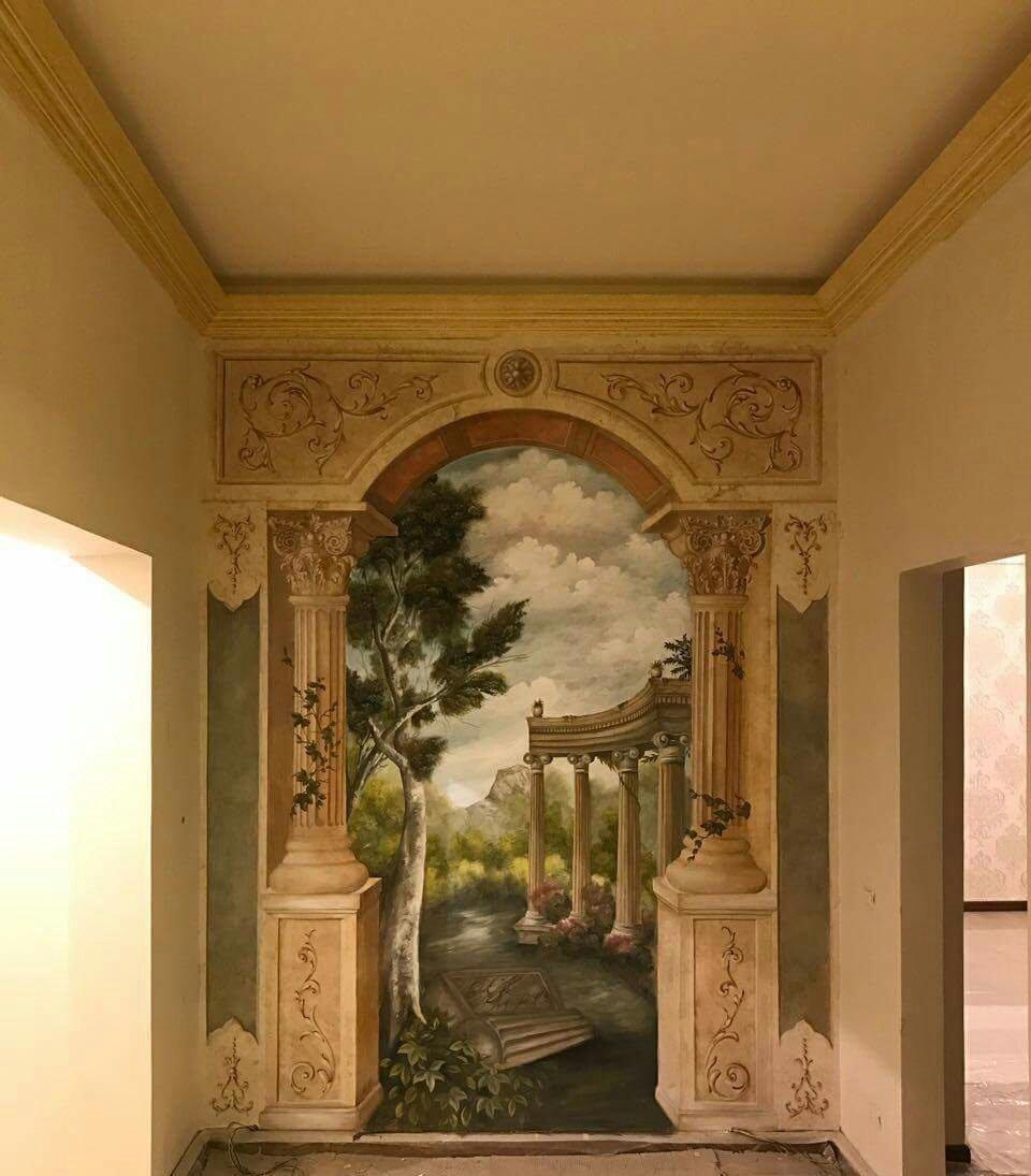 بالصور فن الرسم علي الجدران , رسومات للحائط جميلة 9577 3