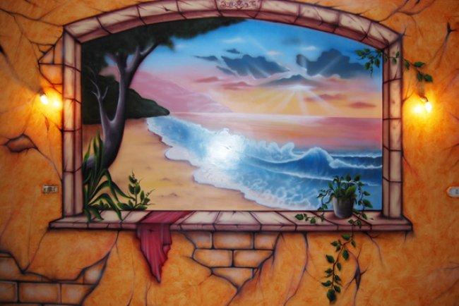 بالصور فن الرسم علي الجدران , رسومات للحائط جميلة 9577 8