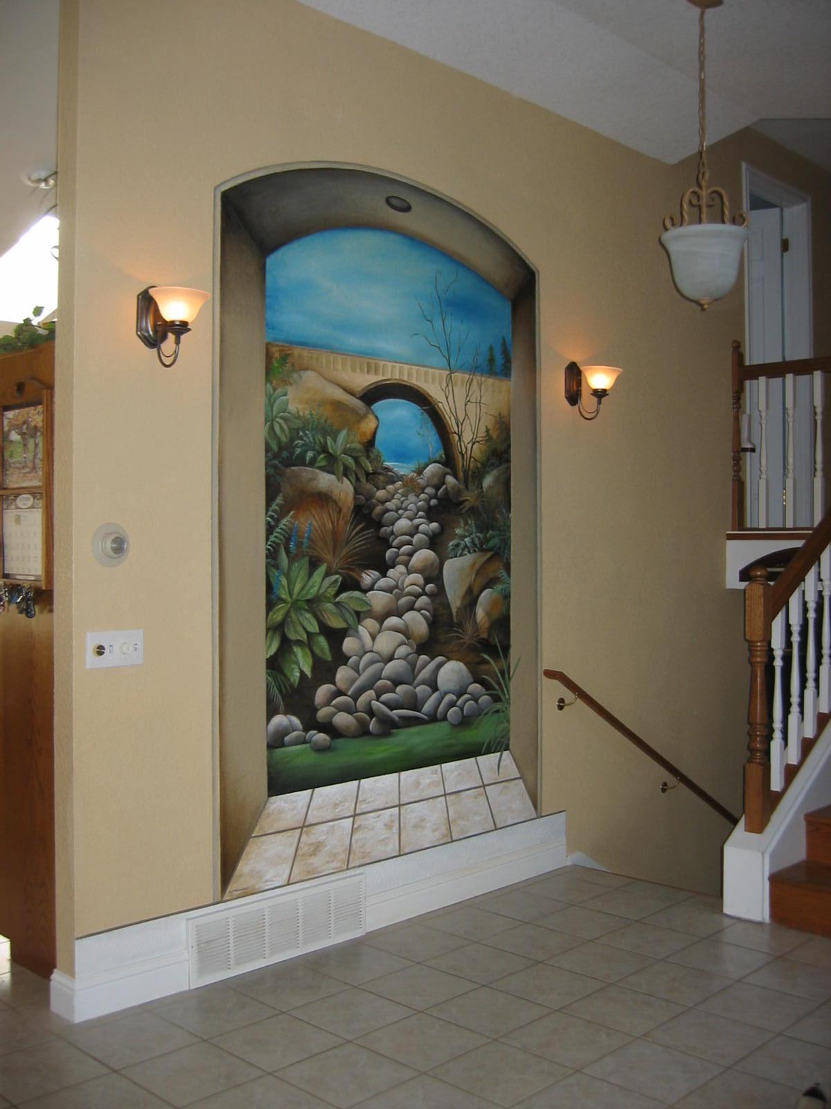 بالصور فن الرسم علي الجدران , رسومات للحائط جميلة 9577
