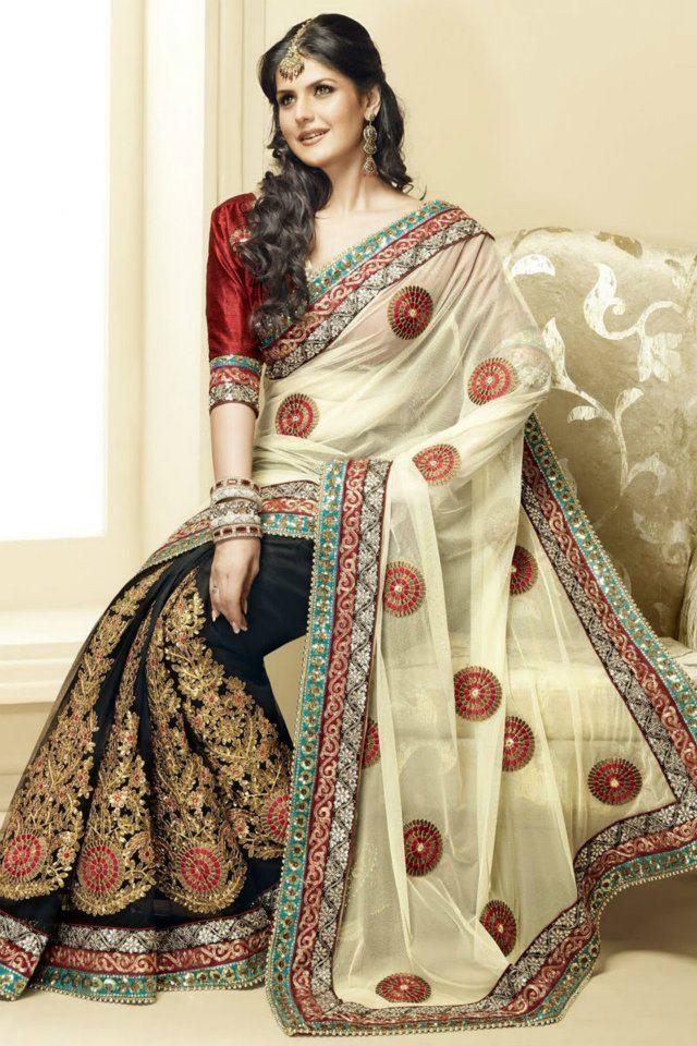 صورة احدث موديلات الساري الهندي , صور ساري هندي للعرائس