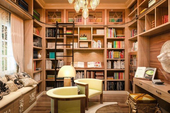 بالصور تصاميم مكاتب منزلية مودرن صور مكتبات منزلية , احدث مكاتب منزلية 3274 5