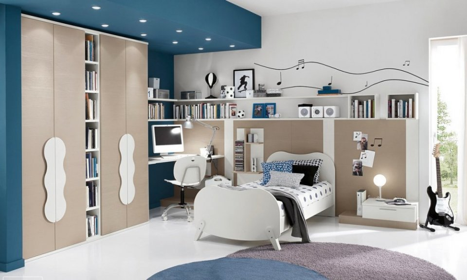 صوره صور غرف نوم شباب . احدث تصميمات غرف الشباب .