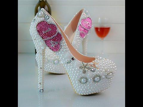 daaa6e685 احذية عرايس كعب عالي , احذية بيضاء لاجمل عروس - صبايا كيوت