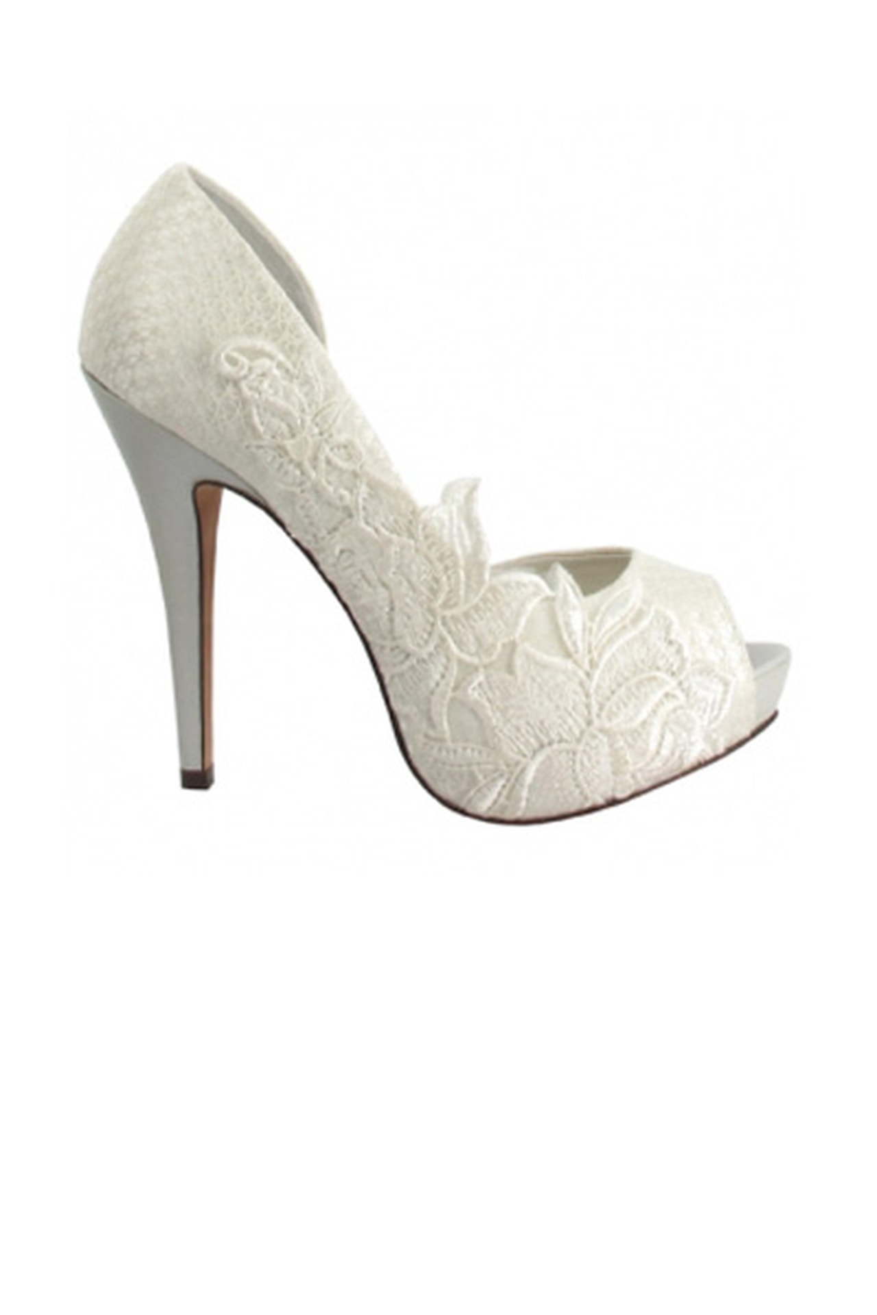 بالصور احذية عرايس كعب عالي , احذية بيضاء لاجمل عروس 5152 2