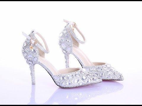 بالصور احذية عرايس كعب عالي , احذية بيضاء لاجمل عروس 5152 6