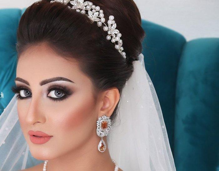 صورة مكياج عروس خليجي , اجمل مكياج عرائس الخليج