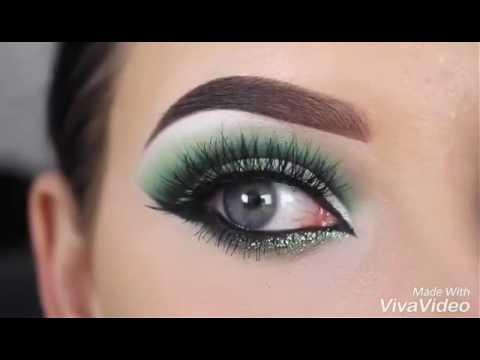 صورة مكياج عيون اخضر , احلى مكياج اخضر للعيون